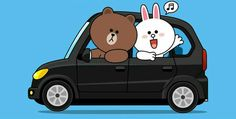 Brown and Cony Cute Couple Cartoon, Cute Couple Art, Cony Brown, Brown Bear, Cute Love Gif, Cute Love Quotes, Line Cony, Bunny And Bear, Brown Line