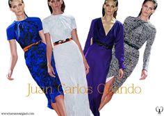 juan Carlos Obando,motivos vegetales se plasman en sobrios vestidos de cocktail