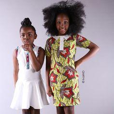 Lookbook - Vêtements filles en wax de 2 à 12 ans