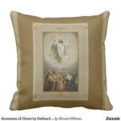 Ascension of Christ by Gebhard Fugel 1893 Pillow