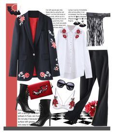 """""""Easy Outfitting: Embroidered for next season"""" by carola-corana ❤ liked on Polyvore featuring floralprint, zaful, charmtasselcuff and widefringedbelt"""