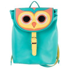 Buy Owl Is Well Teal Backpack Online - Chumbak