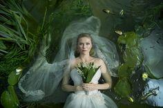 The melancholy bride. Kirsten Dunst from Lars von Trier's Melancholia