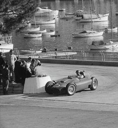 1956 Fangio Monaco Sports Car Racing, F1 Racing, Sport Cars, Race Cars, Austrian Grand Prix, Italian Grand Prix, Vintage Sports Cars, Vintage Race Car, Courses F1
