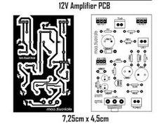 layout pcb amplifier Simple Micro amp Power ini bisa di