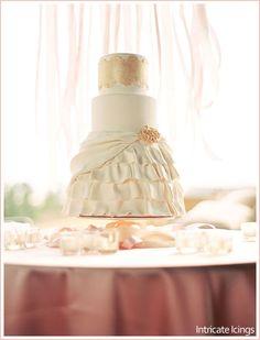 elegant dress cake