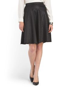 image of Faux Leather Textured Skirt