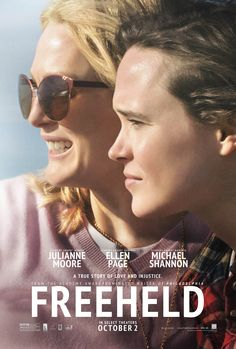 Julianne Moore and Ellen Page on the poster for Freeheld. Watch out, Oscars!