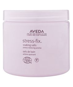 8 Bath Products to Use for a Chill Spa Night At-Home - Aveda Stress-Fix Soaking Salts from InStyle.com