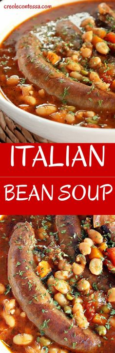 It's officially soup season, so warm up the family with this yummy Italian Bean Soup with Smoked Sausage. #Bravo!