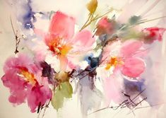 Watercolors, Oils and Acrylics by Brazilian artist Fabio Cembranelli featuring a gallery of original paintings, art tutorials, watercolor tips and his daily pa Watercolor Pictures, Watercolor Cards, Watercolor Flowers, Oil Painting Flowers, Watercolor Landscape, Abstract Watercolor, Watercolor Paintings, Watercolors, Arte Floral