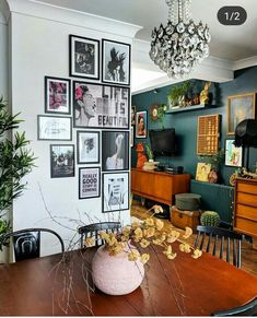Gallery Wall on the corner. Family Home Design By Gabriella Khalil A Philadelphi. Gallery Wall on the corner. Family Home Design By Gabriella Khalil A Philadelphi. Home Design, Design Ideas, Design Design, Home Living Room, Living Spaces, Cozy Eclectic Living Room, Dark Living Rooms, Retro Living Rooms, Warm Colours Living Room