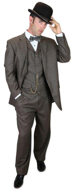 Wedding Mens Brown Wool Tweed Suit | Formal | Bridal | Prom | Tuxedo || Keaton Tweed Suit