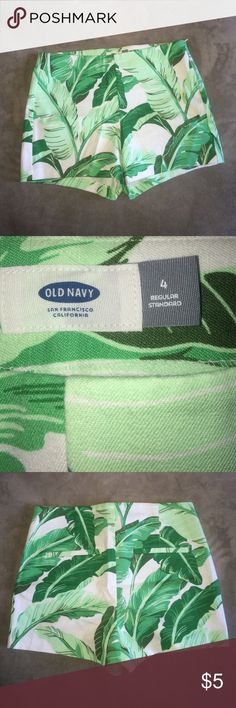 Green Leaf Pants Never worn. Old Navy Shorts