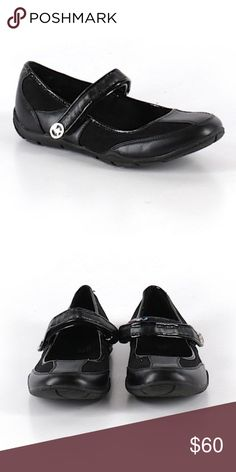 MICHAEL BY MICHAEL KORS Mary Jane Size 4 Shoe Mary jane silhouette Black Solid Measurements Detailed measurements are not available for this item. Materials Fabric details not available. Condition This item is gently used with minor signs of wear (wear on inside). MICHAEL Michael Kors Shoes Flats & Loafers