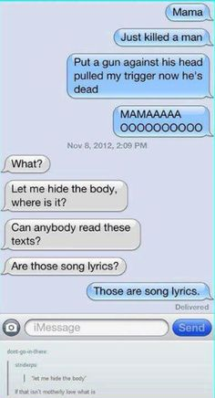 These are song lyrics  . . .