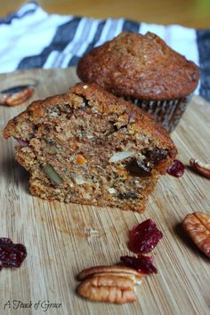 Morning Glory Muffins (aka the best muffins I've ever made according to my husband) - A Fit Mom's Life