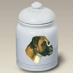 Boxer Uncropped Dog - Linda Picken Treat Jar - http://www.thepuppy.org/boxer-uncropped-dog-linda-picken-treat-jar/