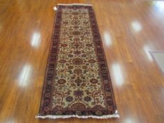 This formal #runner is an accurate reproduction of a Persian Bidjar in the Indo-Persian style.  2.7x7.9 feet. #Handmade.   #persian #carpet