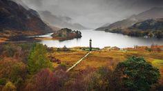 The Glenfinnan Monument, Fort William, Loch Shiel, Scotland - Gorgeous.