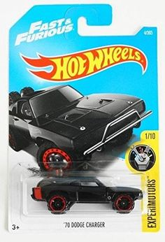 Hot Wheels 2017 Experimotors Fast and Furious 70 Dodge Charger Black >>> Click photo for even more details. (This is an affiliate link). Custom Hot Wheels, Hot Wheels Cars, Jeep Wheels, Toddler Car Bed, Toy Cars For Kids, Matchbox Cars, Fast And Furious, T Rex, Cool Cars