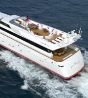 Pollux - Motor Yacht - - Discover your Glamorous Mediterranean Experience Charter Boat, Motor Yacht, Luxury Yachts, Upper Deck, Art Deco Design, Greece, The Incredibles, Exterior, Greece Country
