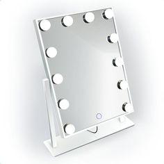 Glam Mirror, Led Makeup Mirror, Lighted Vanity Mirror, Makeup Mirror With Lights, Led Mirror Lights, Hollywood Mirror, Mini Makeup, Small Mirrors, Small Vanity Mirror