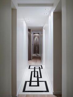 Affordable Apartment Ceiling Design Ideas That Inspiring 13 Flur Design, Plafond Design, Paving Design, Tile Design, Bedroom False Ceiling Design, Hallway Designs, Lobby Interior, Interior Modern, House Design