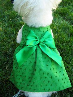 Small Green Shamrock St Patrick/'s Day Dress Dog Puppy Teacup Pet Clothes XXXS