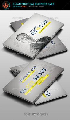 Political election business card template card templates clean political business card template colourmoves