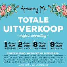 Totale uitverkoop Amazing Me -- Geraardsbergen -- 01/10-09/10