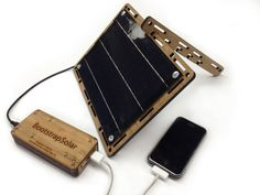 Portable Solar charger for your phone or tablet. Plus its made mostly from sustainable materials!