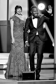 """""""Hannah Simone and Lamorne Morris speak onstage during the NAACP Image Awards on February New Girl Cast, New Girl Tv Show, New Girl Memes, New Girl Quotes, Hannah Simone, Nick And Jess, Jake Johnson, Comedy Show, Hey Girl"""