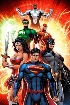 DC COMICS, justice league  Superman, Batman, Wonder Woman, Flash, Green Lantern, Aquaman