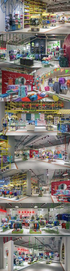Paris Kids store - some ideas in here for the candy store Retail Interior Design, Retail Store Design, Retail Shop, Design Commercial, Commercial Interiors, Display Design, Booth Design, Kids Store, Toy Store