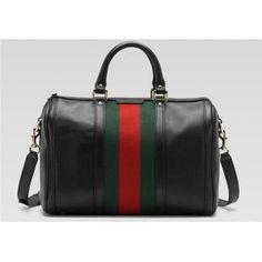 Gucci Boston Leather Tote Handbag 247205! Only $155.0USD