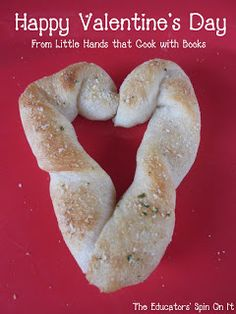 Heart Breadsticks for a Non-Sweet Valentine Party Idea from The Educators' Spin On It