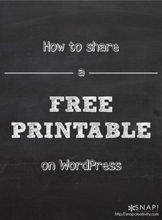 Hi WordPress users! Today I am going to show you how to offer a free printable on WordPress with your blog readers. As a blogger a great way to gain traffic and give back to your readers is with a free printable! It could be a free printable party decor, holiday tag, invitations, wall art, […]
