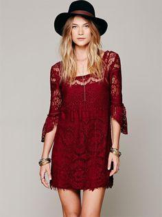 Boho - Chic Bohemian Lace Date Dresses Crochet Mini Swing Dress