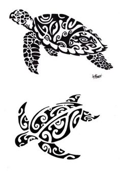 Diseños de Tatuajes de Tortugas 2012 Maories Polinesias