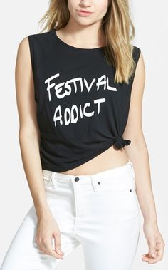 Festival Fashion   Knot hem tank. #nordstrom @nordstrom