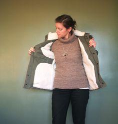Gros manteau d'hiver Tosti par gros bécots - thread&needles