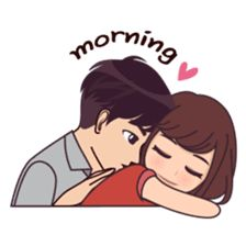 Cute, funny, lovely couple sticker for those who in love Cute Love Stories, Cute Love Pictures, Cute Love Gif, Cute Love Couple, Love Cartoon Couple, Anime Love Couple, Cute Anime Couples, Couple Pics, Cute Couple Drawings
