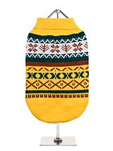 Yellow Norwegian Vintage Sweater - We're constantly inspired by heritage designs not only from Britain but also from Scandinavia, especially when those designs are in style as they are this season. A high turtle neck and elasticated sleeves make this sweater extra cosy and the vibrant pattern will brighten up even the greyest of days...