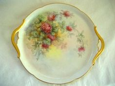 Antique Limoges Tray Hand Painted Porcelain China