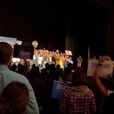 Killer Mike introducing Bernie Sanders. #feelthebern #berniesanders #bernie #atl #atlanta #foxtheater #killermike #runthejewels