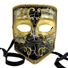 Black w Gold Masquerade Mask Full Faced Venetian Mascarade Mask, Gold Masquerade Mask, Christmas Gifts For Adults, Lolita Goth, Full Face Mask, Venetian Masks, Homemade Face Masks, Vintage Fashion, Accessories