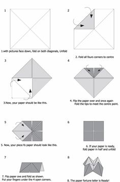 How to Make Paper Fortune Teller Instructions | Kids: Projects For ...