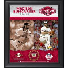 Madison Bumgarner San Francisco Giants Fanatics Authentic Framed 15'' x 17'' 2015 MLB All-Star Game Collage with a Piece of Game-Used All-Star Baseball - $99.99