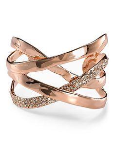 Alexis Bittar Bel Air Rose Gold Druzy Ribbon Cuff   Bloomingdale's